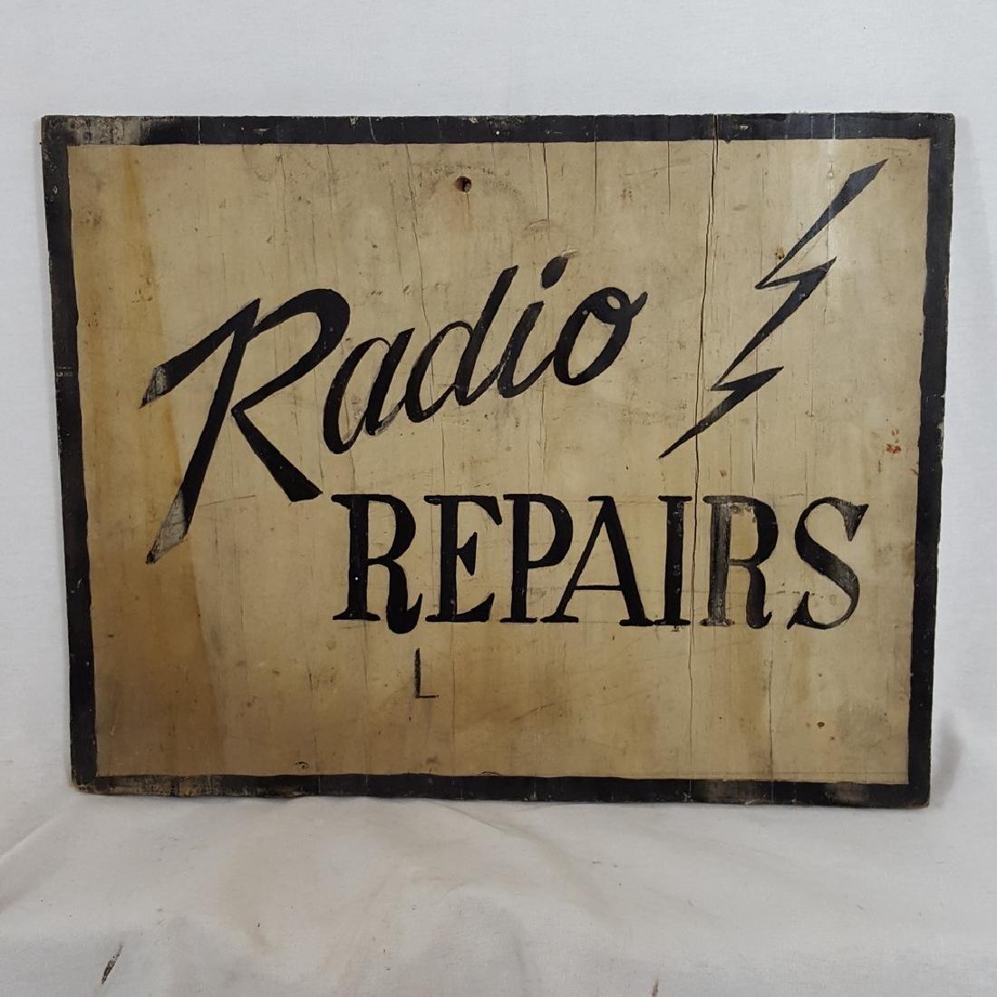 Radios Repaired Sign Ca 1930-1950