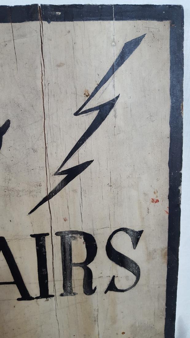 Radios Repaired Sign Ca 1930-1950 - 3