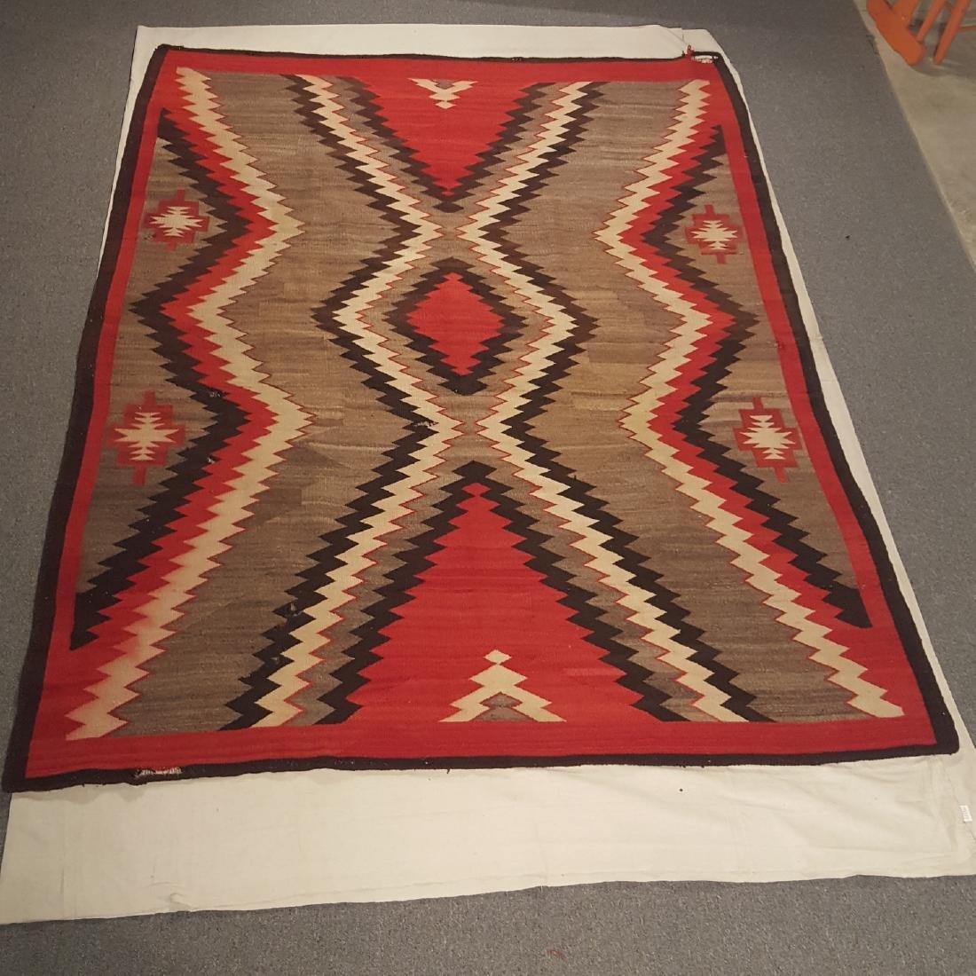Large, Early Navajo Ganado Area Rug Ca 1920