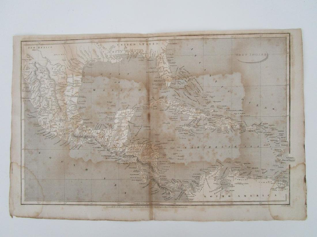 map of West Indies July 1805