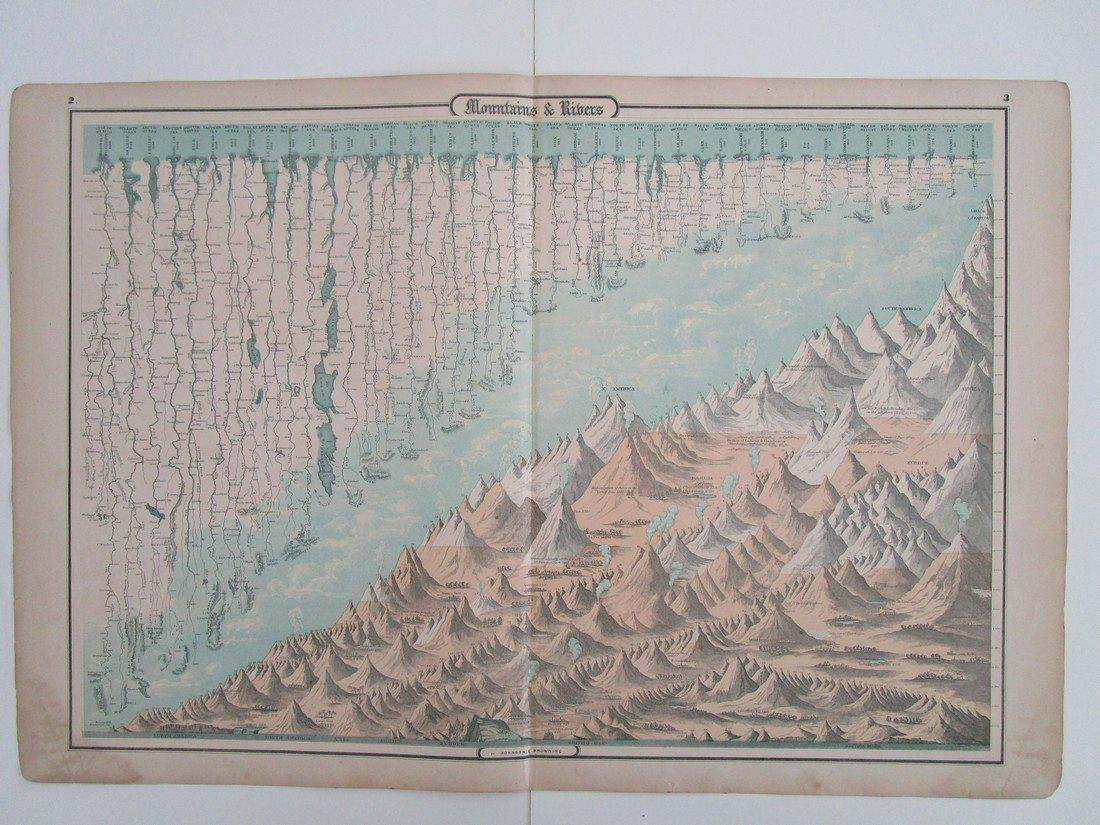 mountains and rivers from Johnson's family atlas