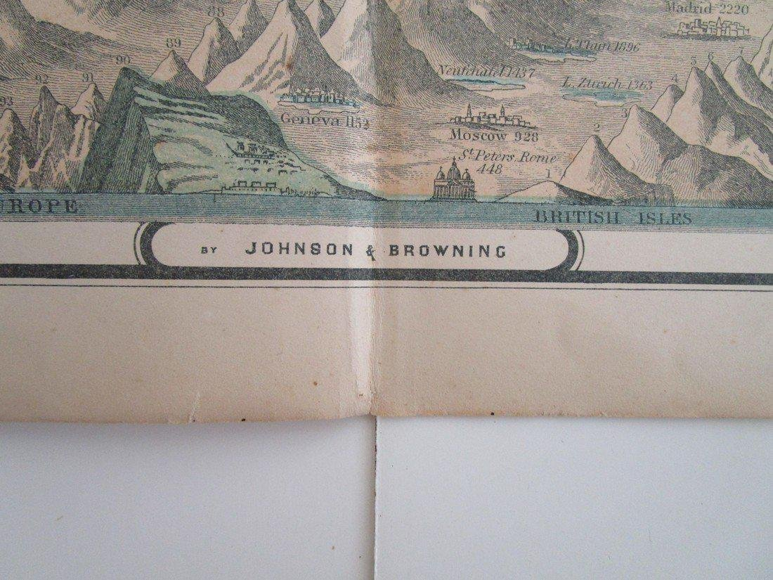 mountains and rivers from Johnson's family atlas - 2