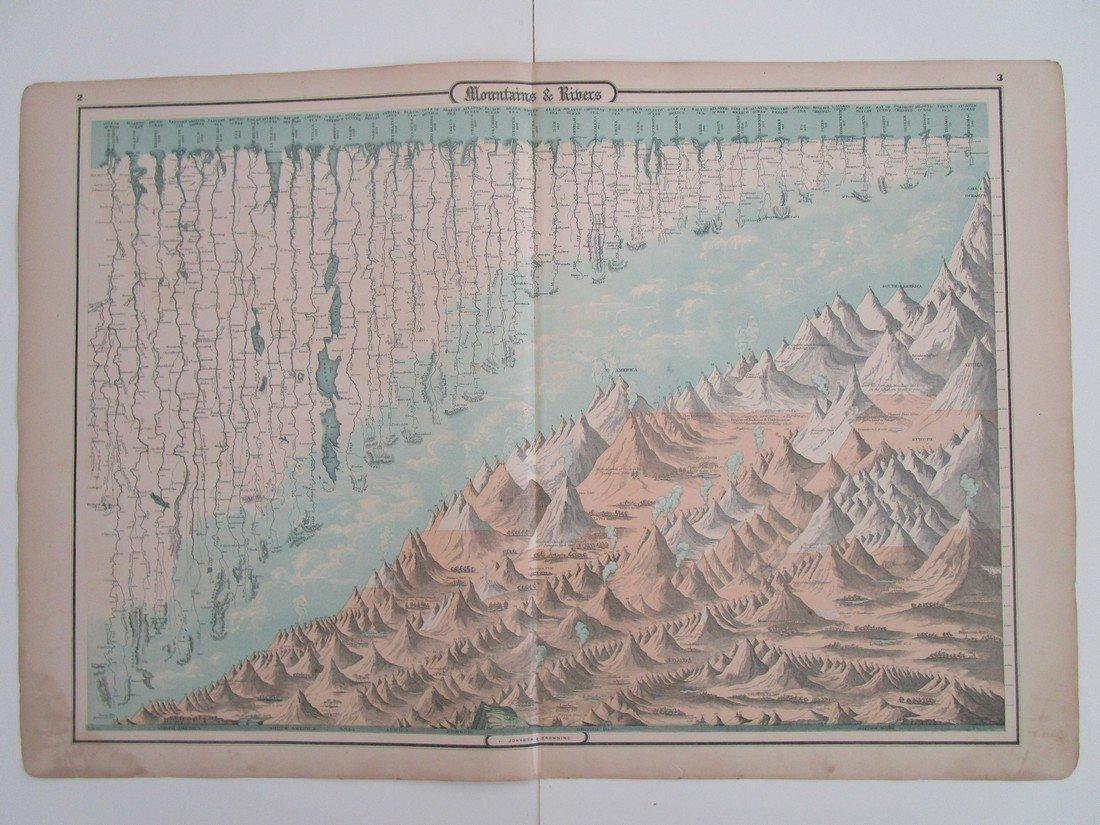 mountains and rivers from Johnson's family atlas - 4