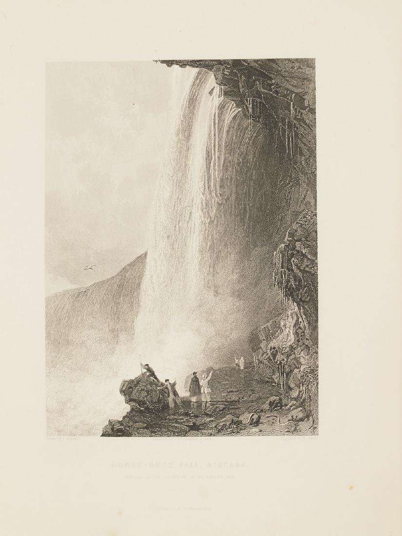 View of Niagara Falls 1844 Steel etching Sands drawing