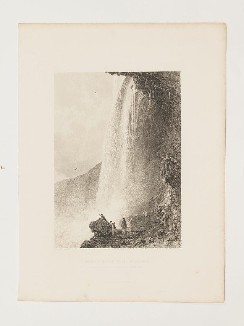 View of Niagara Falls 1844 Steel etching Sands drawing - 2