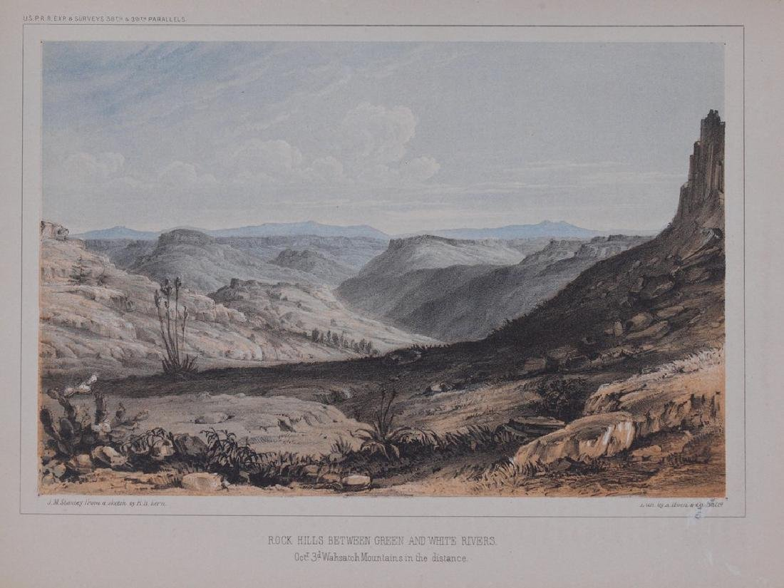 View of Rock Hills between Green and White rivers 1860