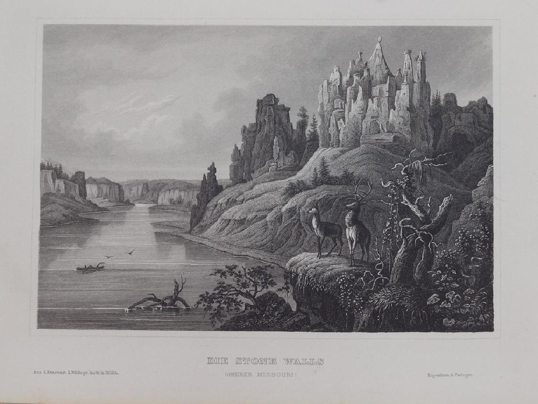 View of Missouri 1850 Steel etching