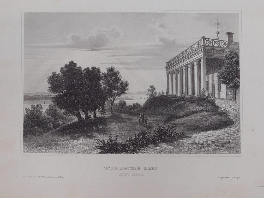 View of Washington s house in Mount Vernon 1860 Steel