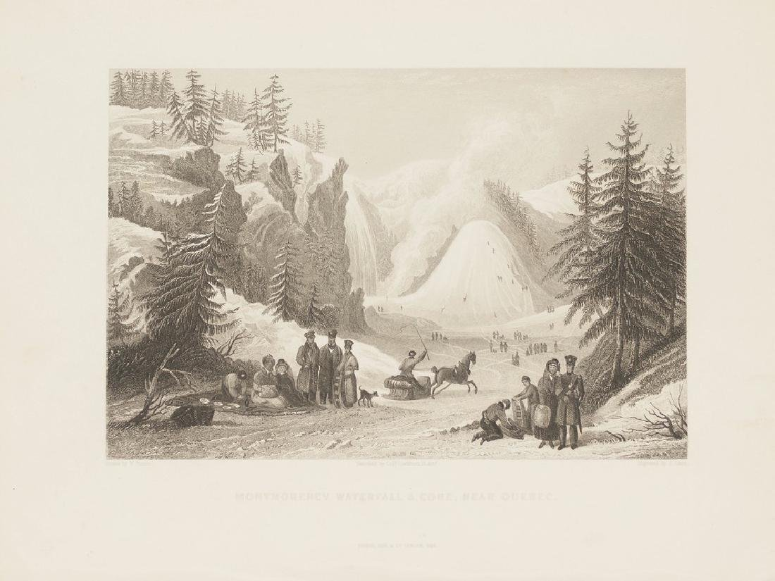 View of Montmorency waterfall Cone Quebec Canada 1845