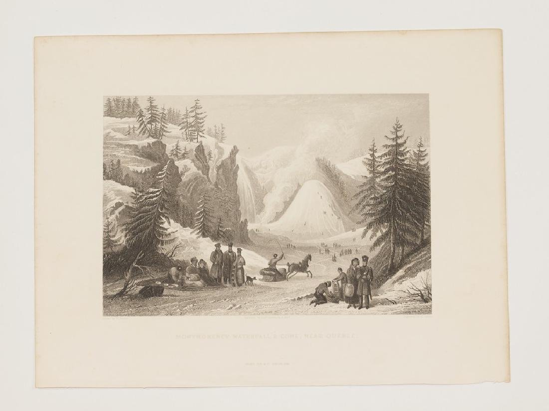 View of Montmorency waterfall Cone Quebec Canada 1845 - 2