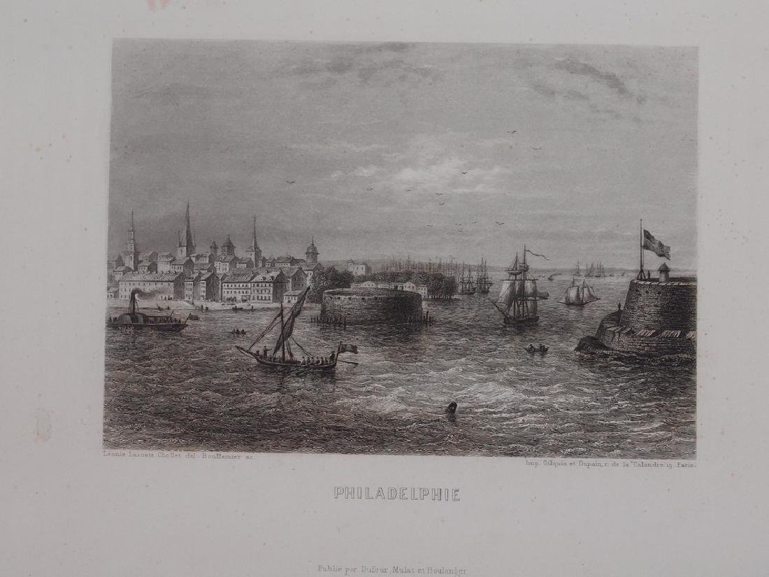 View of Philadelphia 1860 Steel etching