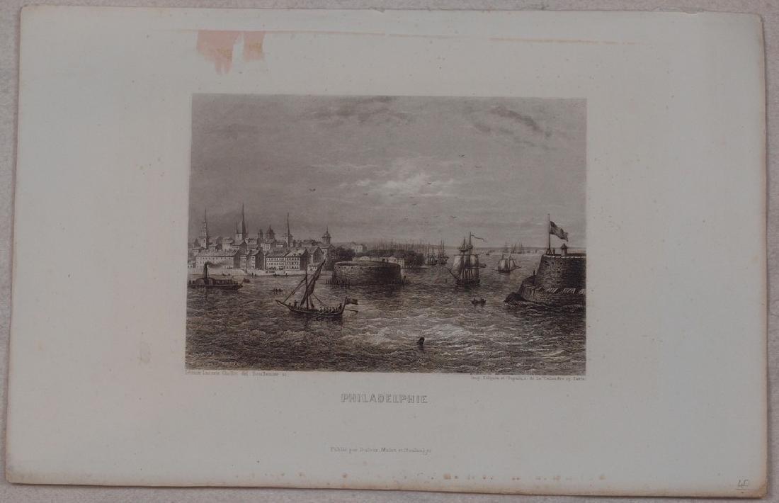 View of Philadelphia 1860 Steel etching - 2