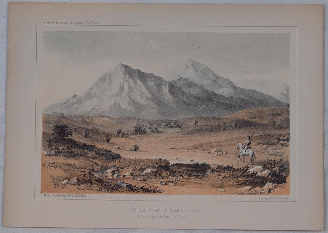 View of Indian riding across the mountains 1860 - 2