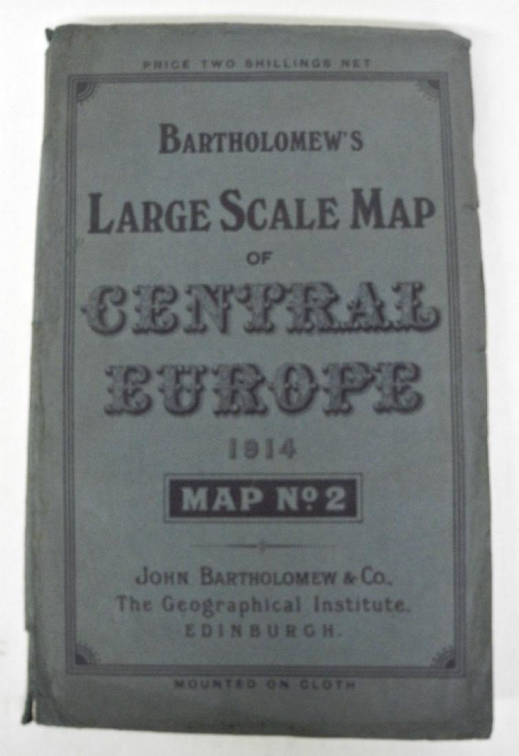 Bartholomew's Large Scale Map of Central Europe.