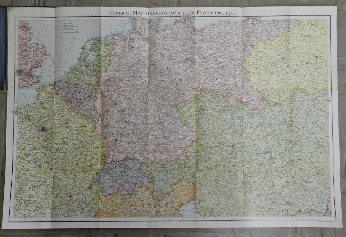 Bartholomew's Large Scale Map of Central Europe. - 2