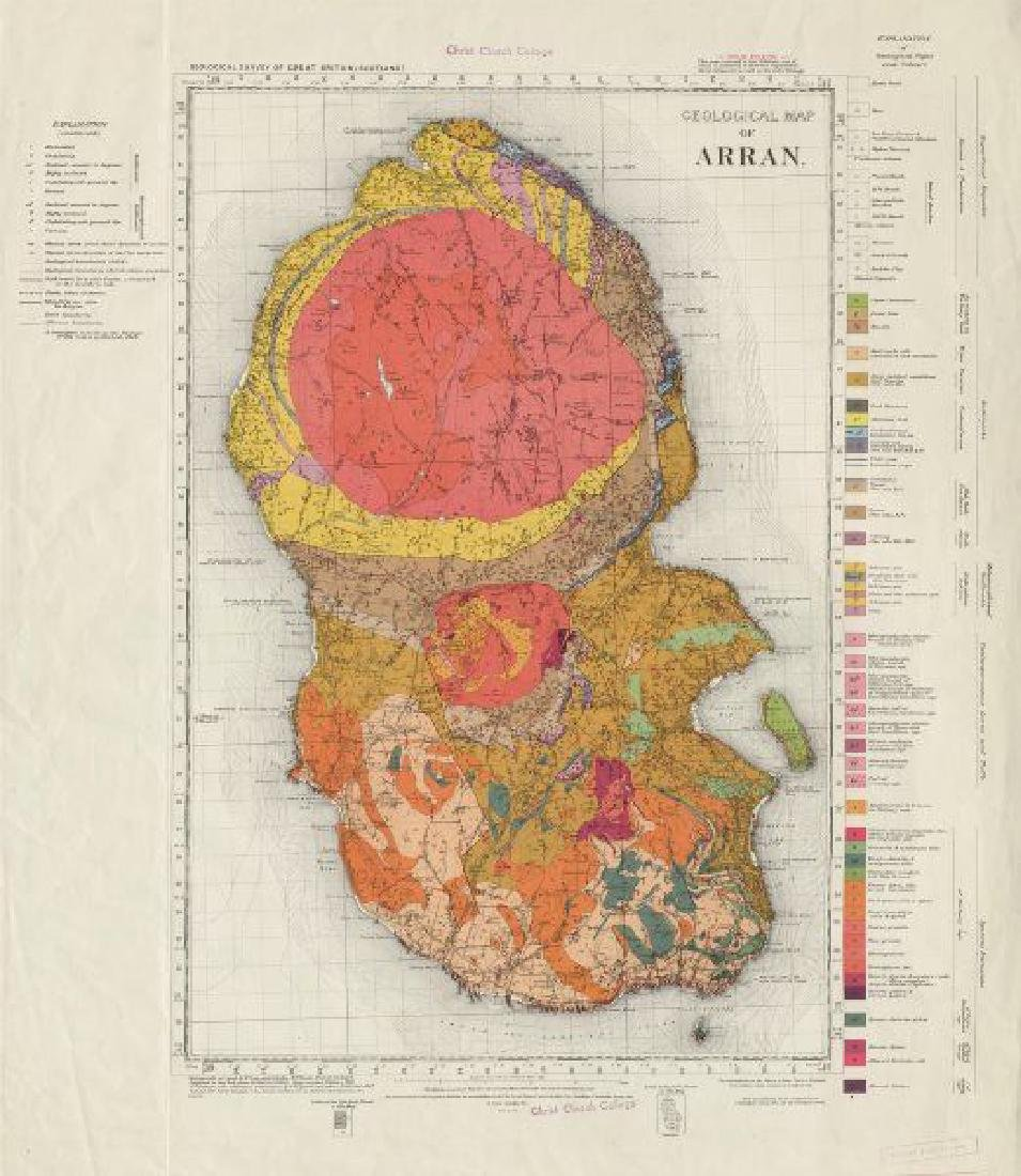 Geological map of Arran, solid edition geological