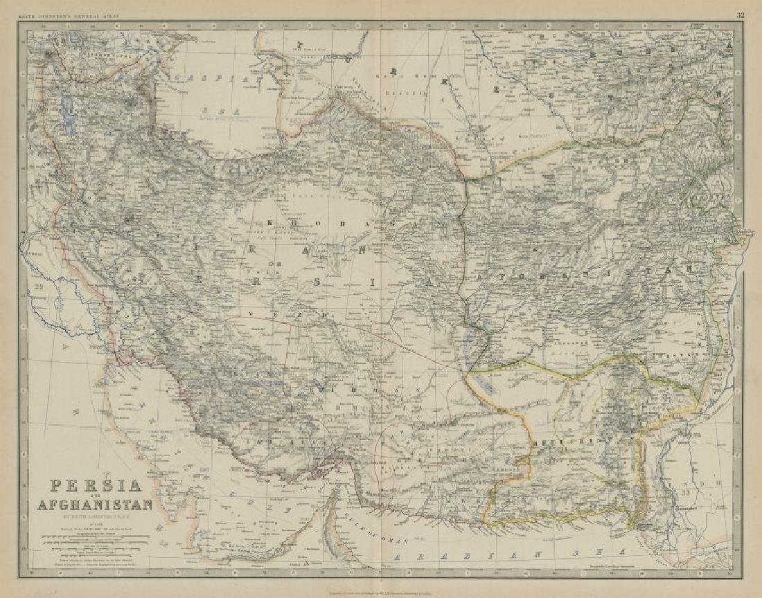 Persia and Afghanistan. Iran Beluchistan SW Asia.