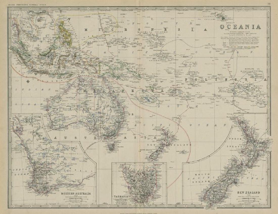 Oceania. Western Australia. Tasmania. New Zealand.