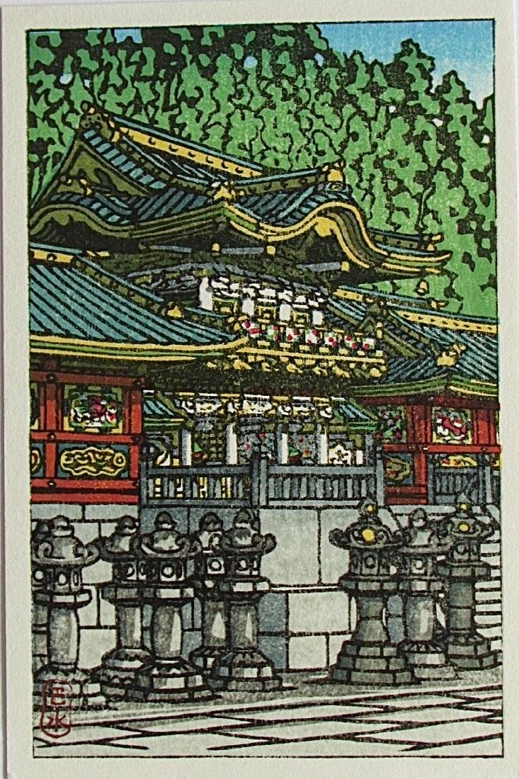 Kawase Hasui Woodblock Tossho Shrine, Nikko