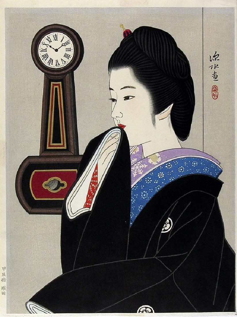 Shinsui Ito Woodblock Clock & Beauty III