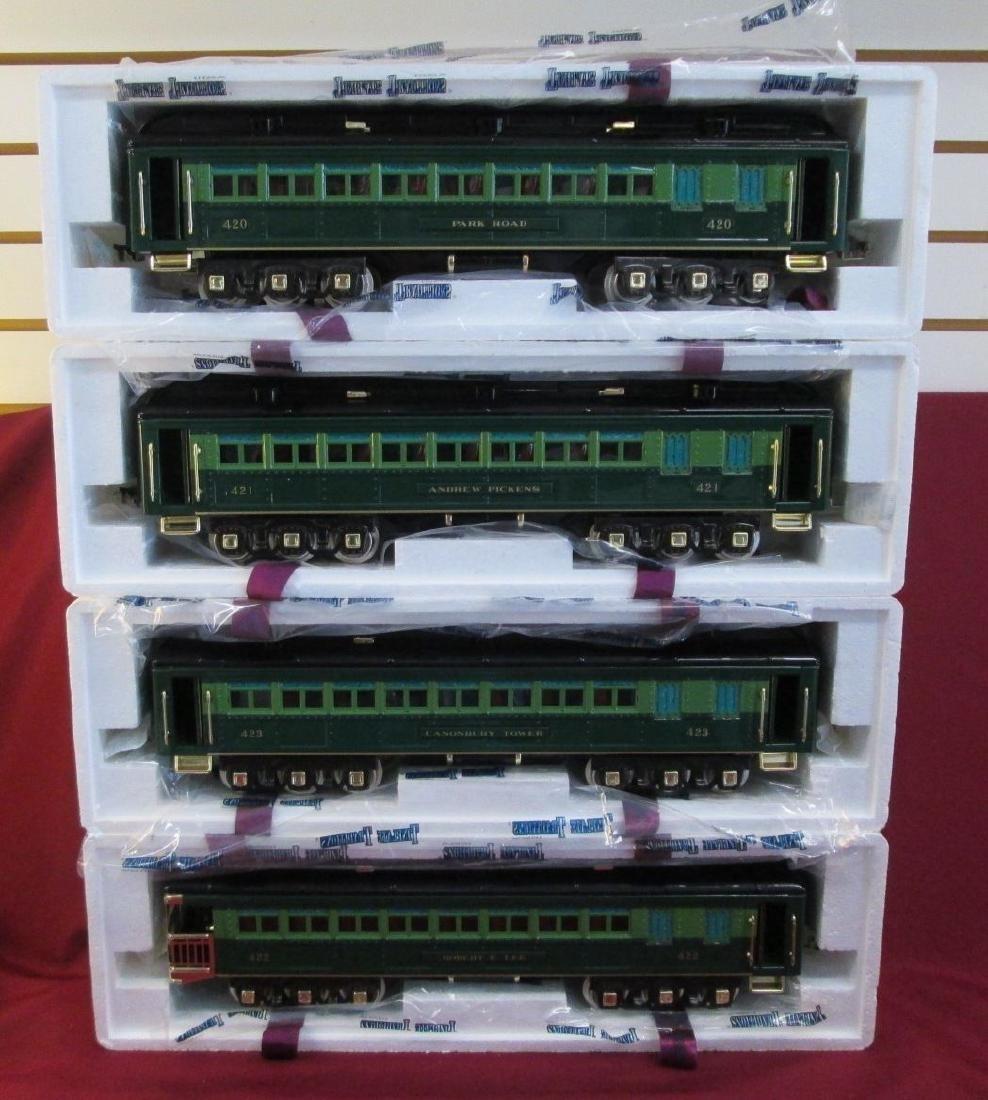 MTH Prewar 10-5007 Standard Gauge Passenger 4 Car Green