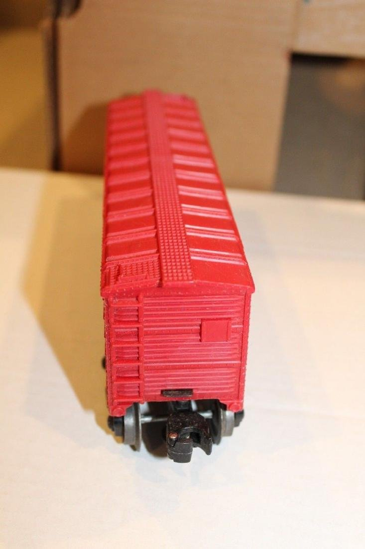 Lionel Postwar 6014-100 Red Aired Boxcar Serif - 4