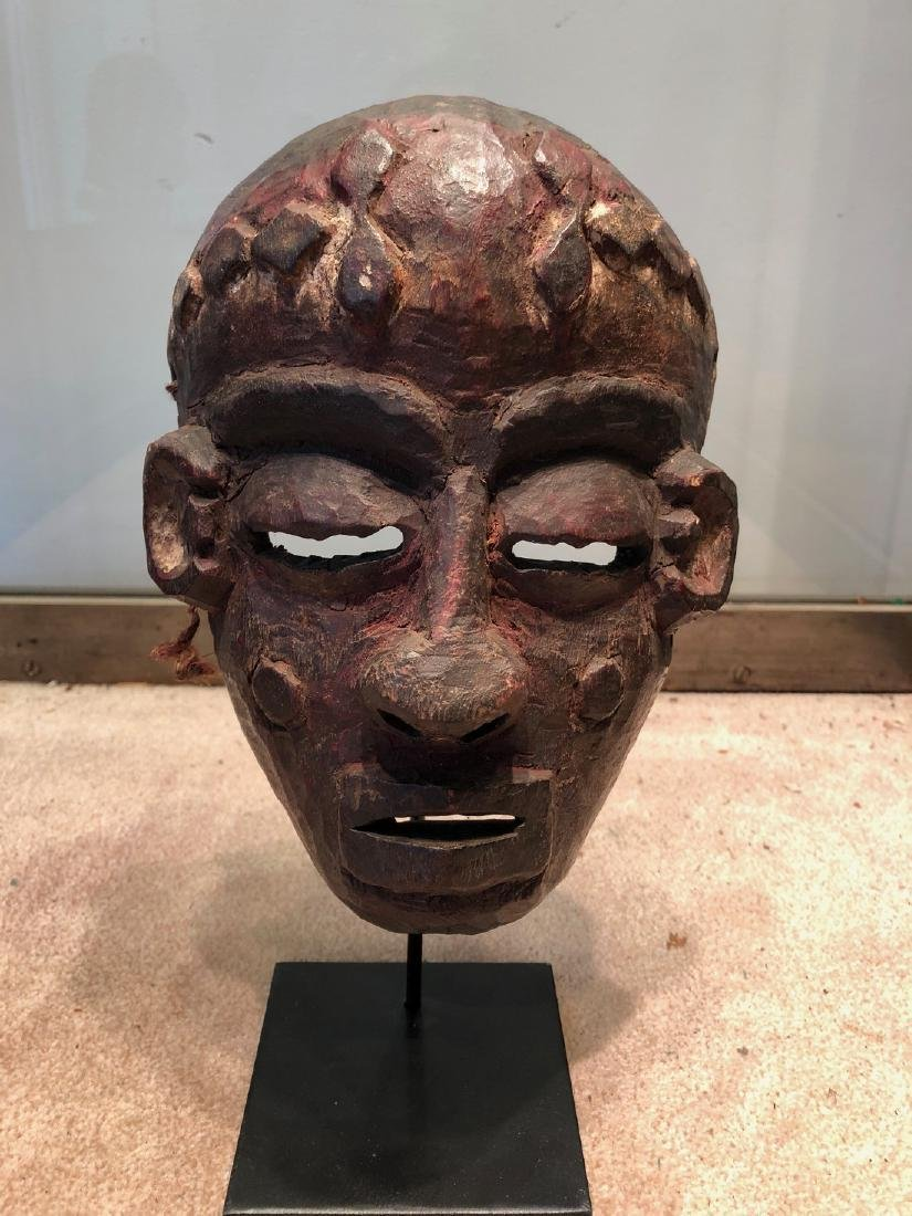 Fine and Scarce Pende Ritual Mask Carved in Wood