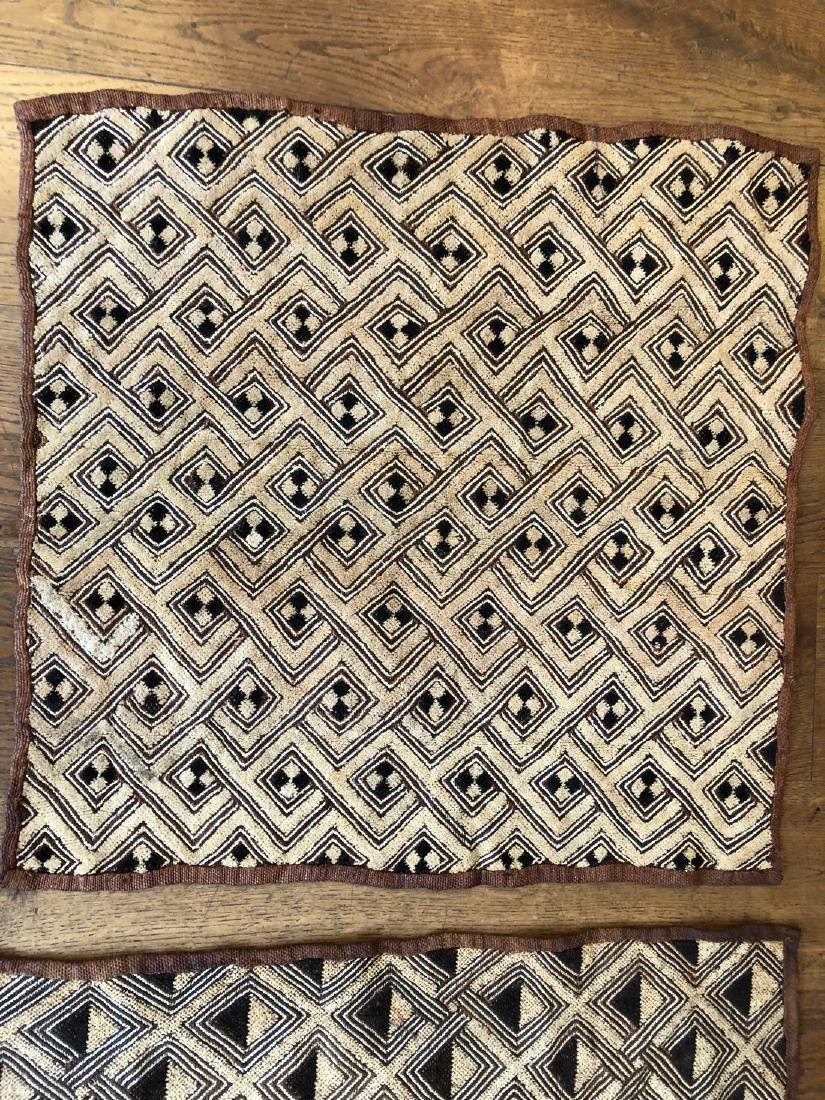 Lot of Two Shoowa Traditional Textiles in Fibers - 4