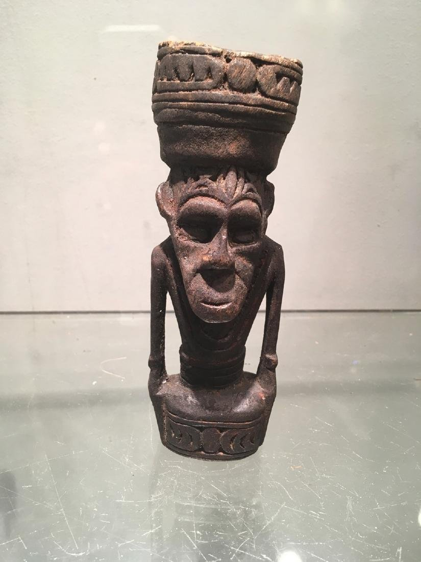 Fine Papua New Guinea Figure Carved in Wood