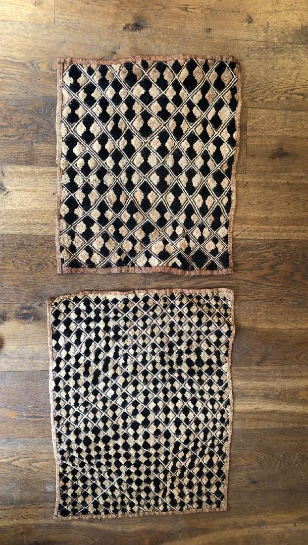 Lot of Two Shoowa Traditional Textiles in Fibers