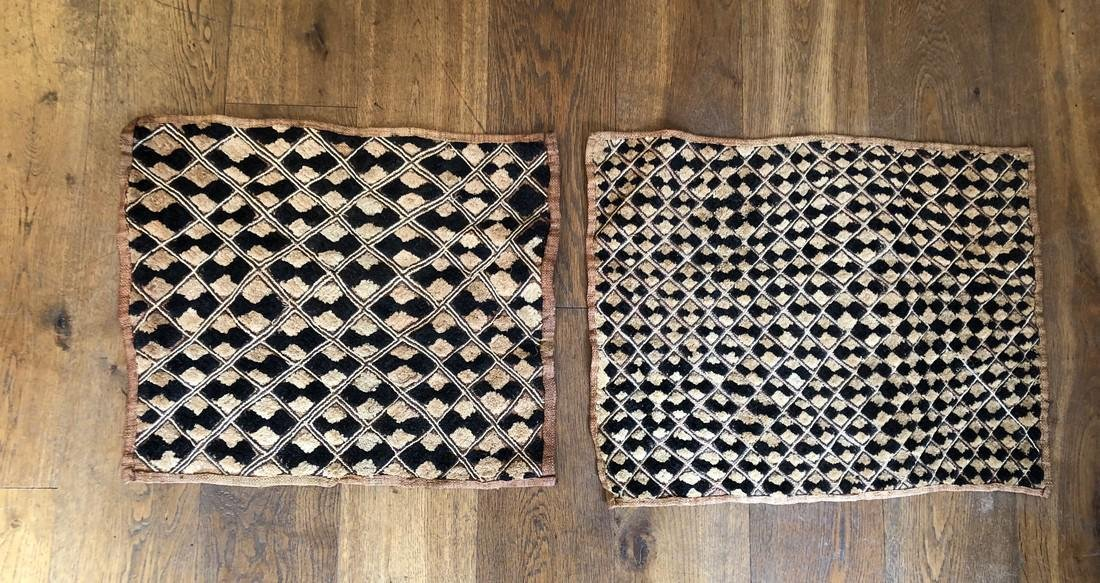 Lot of Two Shoowa Traditional Textiles in Fibers - 2