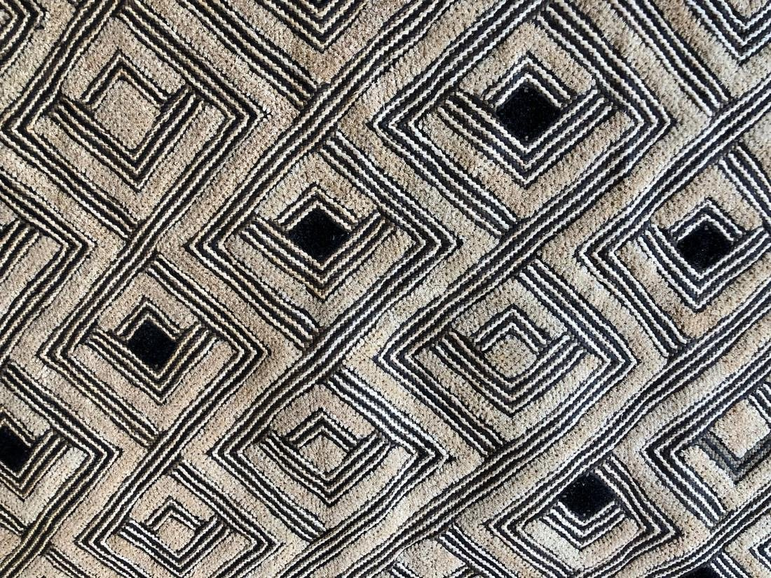 Lot of Two Shoowa Traditional Textiles in Fibers - 5