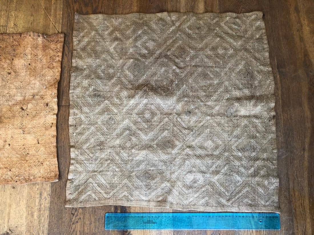 Lot of Two Shoowa Traditional Textiles in Fibers - 8