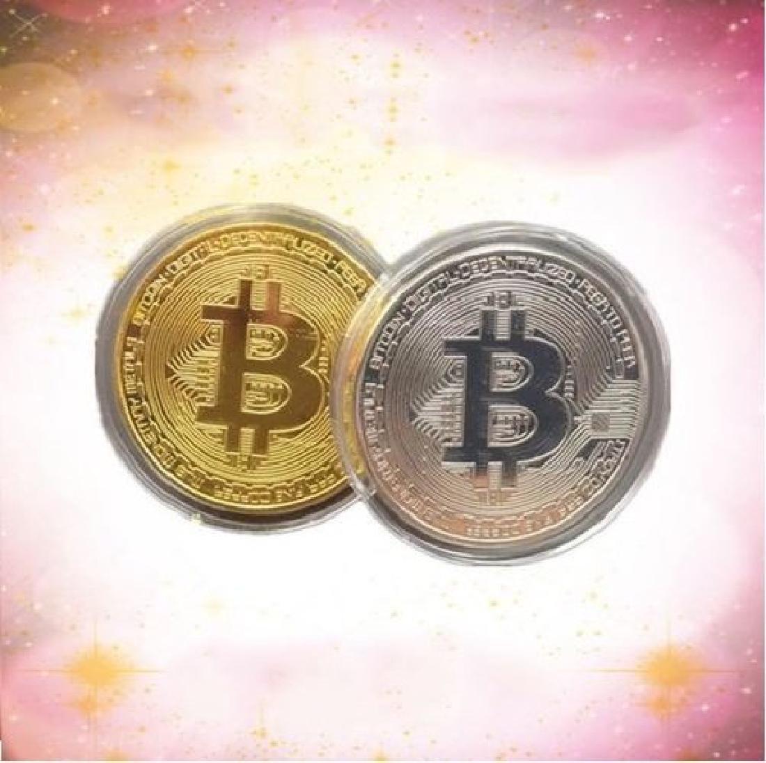 1 PCS Gold Plated Bitcoin Litecoin Ethereum Coins