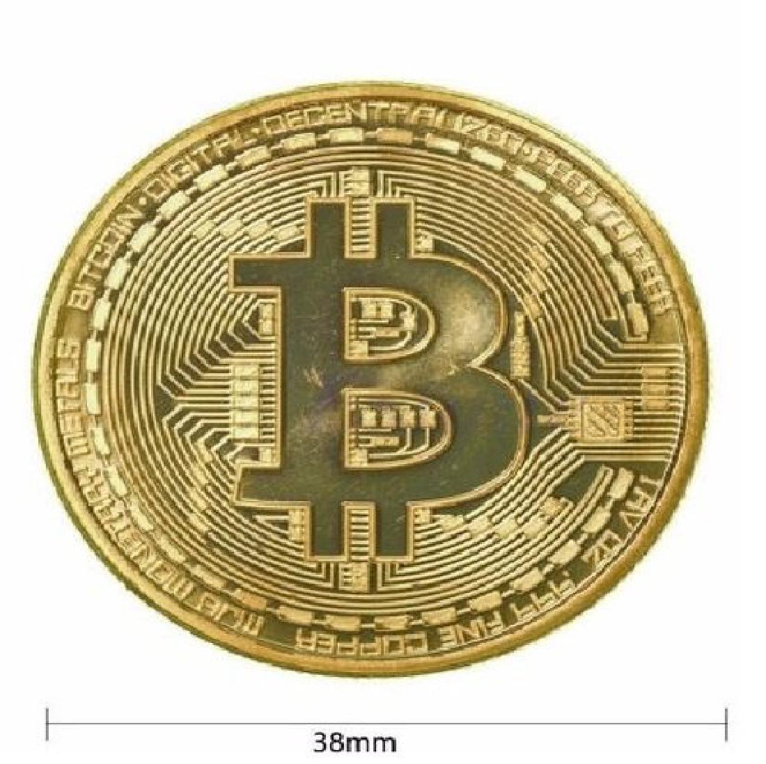 1 PCS Gold Plated Bitcoin Litecoin Ethereum Coins - 2
