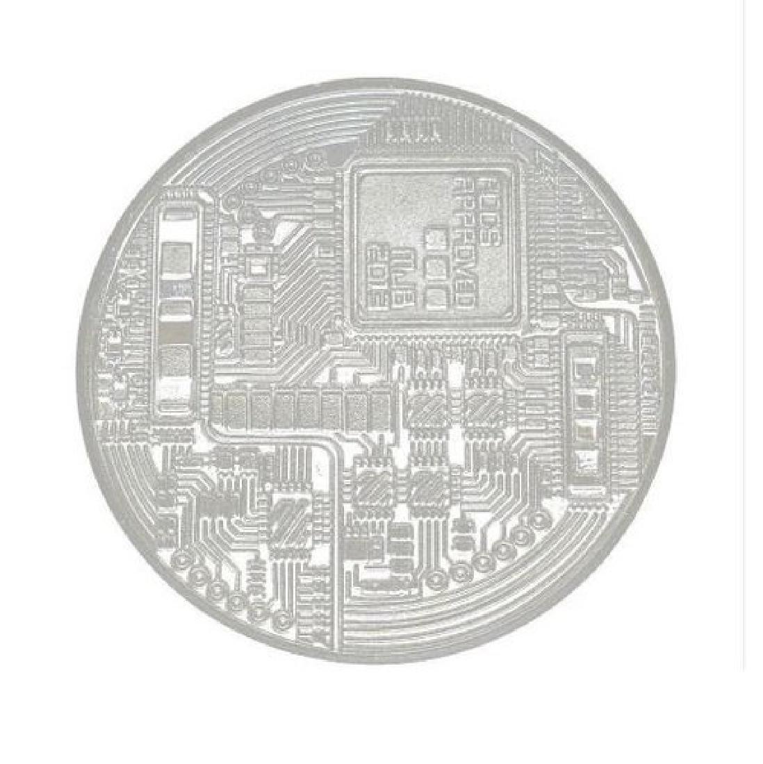 1 PCS Gold Plated Bitcoin Litecoin Ethereum Coins - 3
