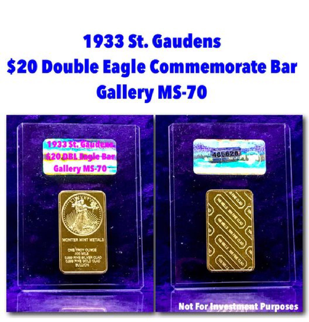 1933 St Gaudens $20 Double Eagle Commemorate Bar