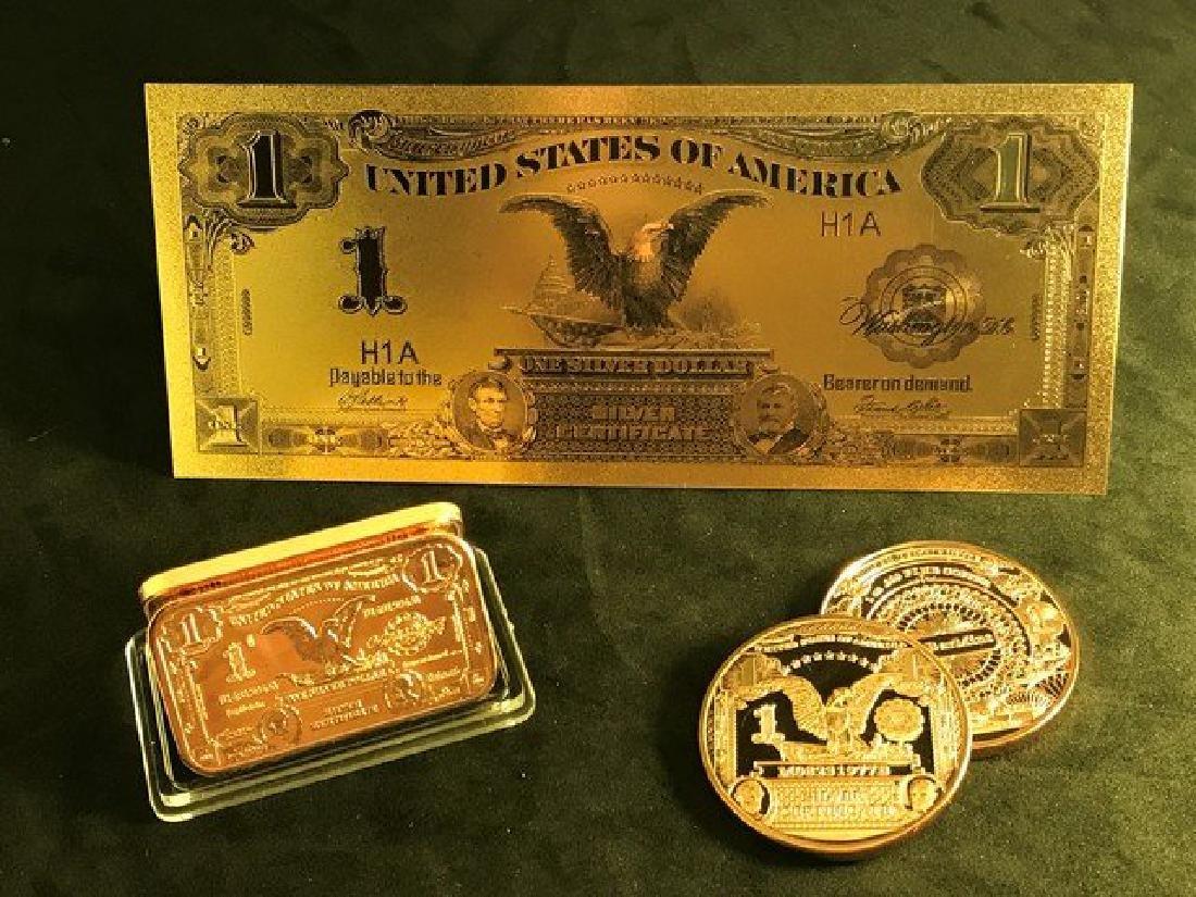 Collection Set 1899 1.00 Black Eagle Silver Certificate