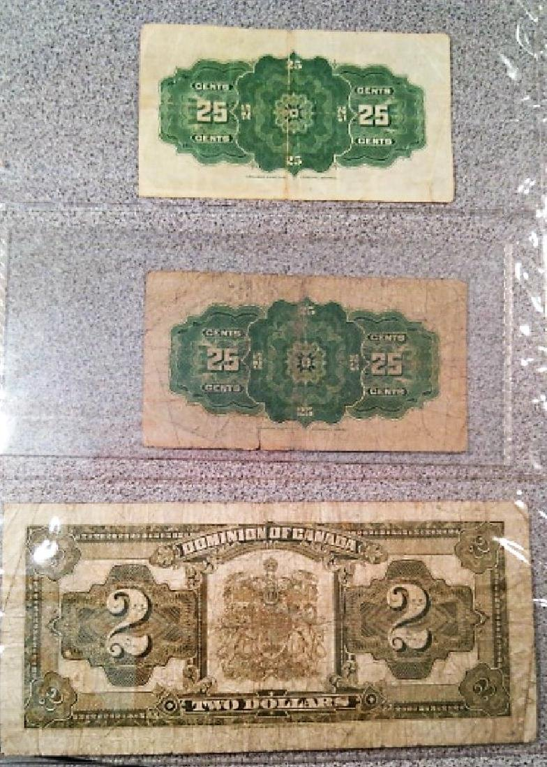 Set of 3 1923 Canadian Bank Notes