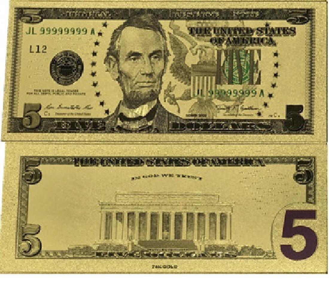 Foil Cert $5 bill