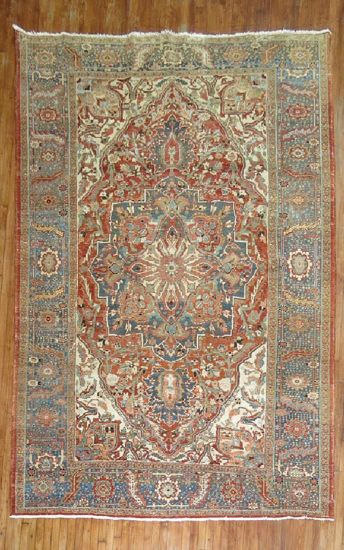Antique Persian Heriz Rug 8.1x11.7