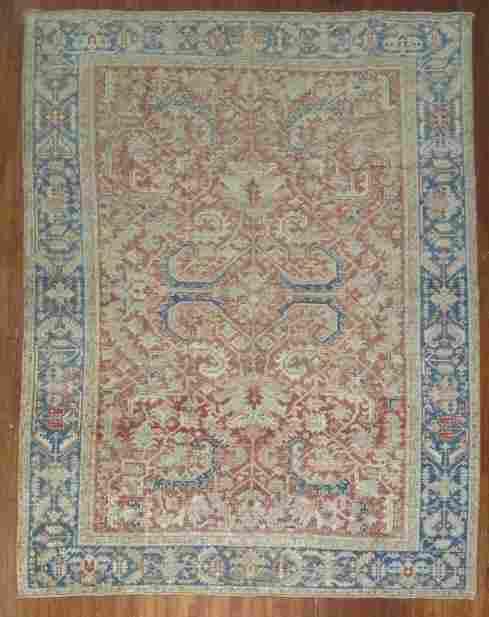 Antique Persian Heriz Rug 8.4x10.7
