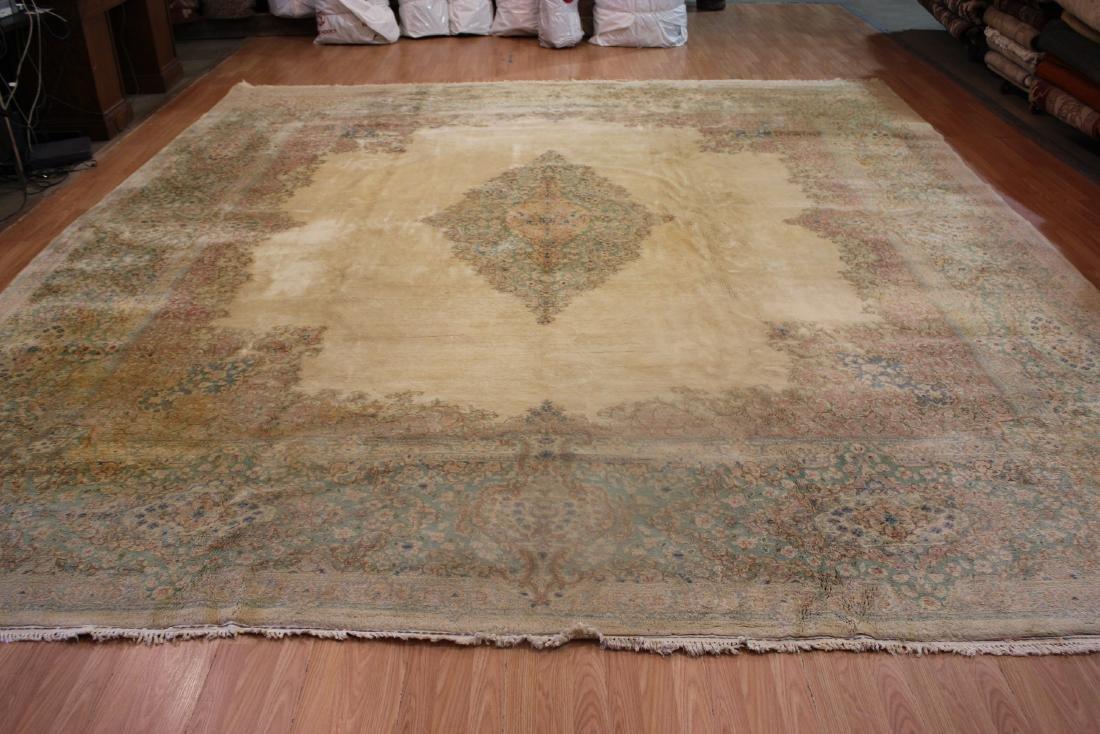 Antique Persian Kerman Rug 12.8x14.2