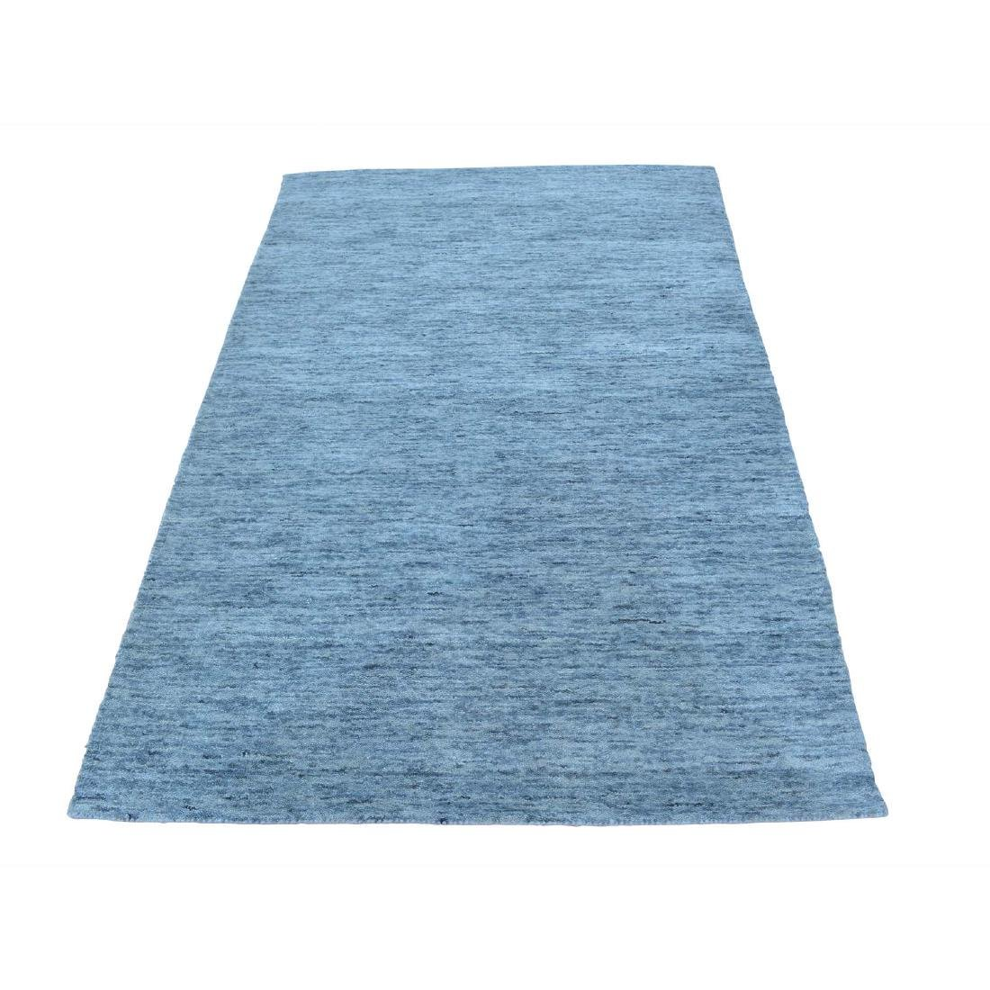 Modern Hand Loomed Gabbeh Pure Wool Rug 3.2x4.10