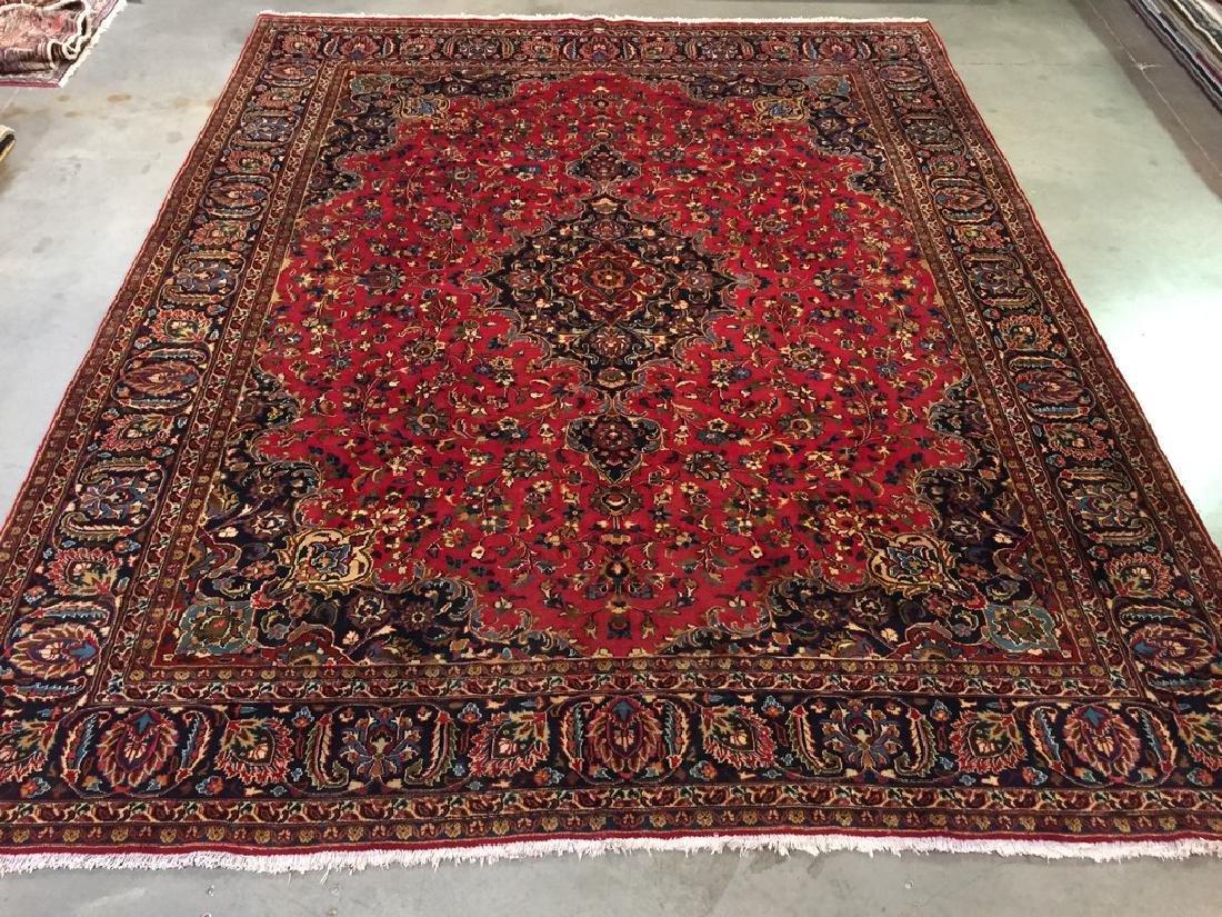 Authentic Persian Mashad Rug 9.9x12.1