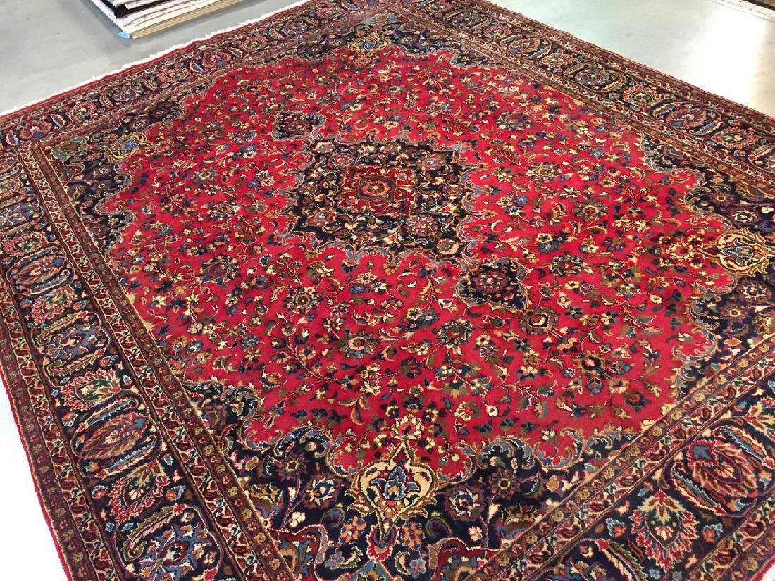 Authentic Persian Mashad Rug 9.9x12.1 - 5