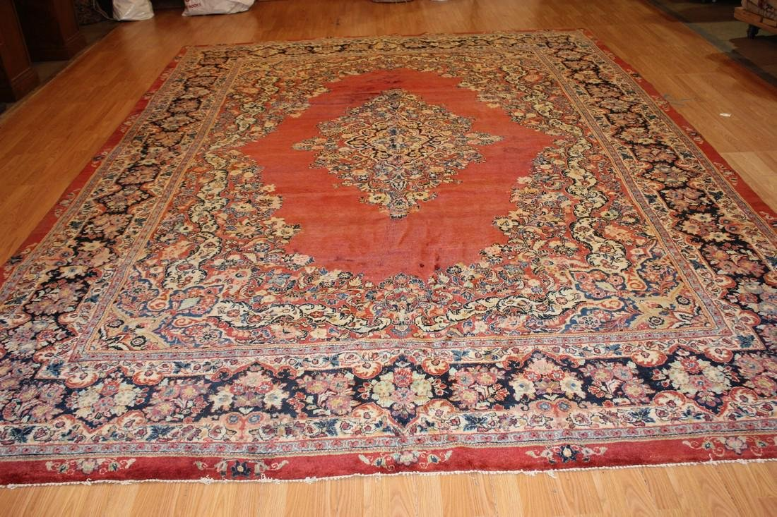 Antique Persian Sarouk Rug 10.3x13.11