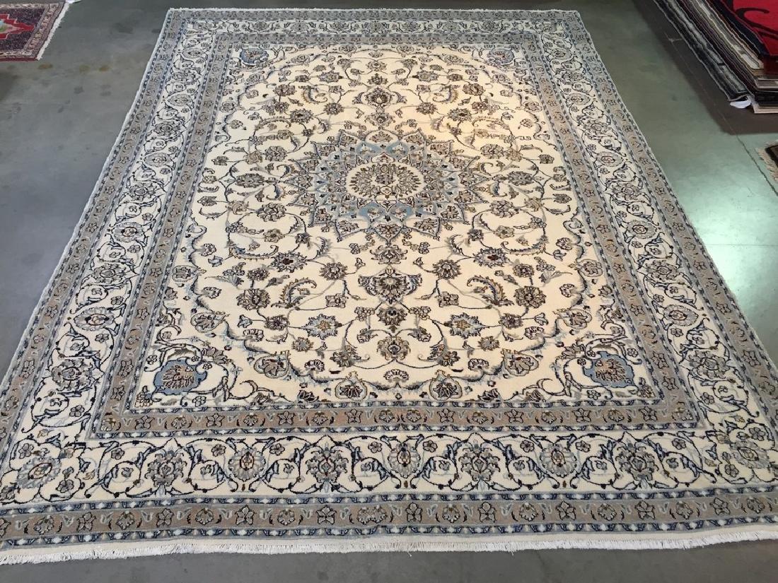 Magnificent Silk & wool Persian Nain Rug 9.8x12.9