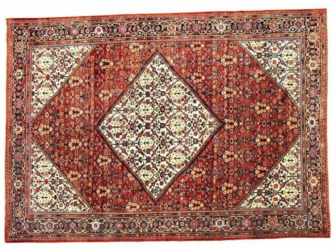 Antique Persian Sultanabad Mahal Rug 9.4x12.6
