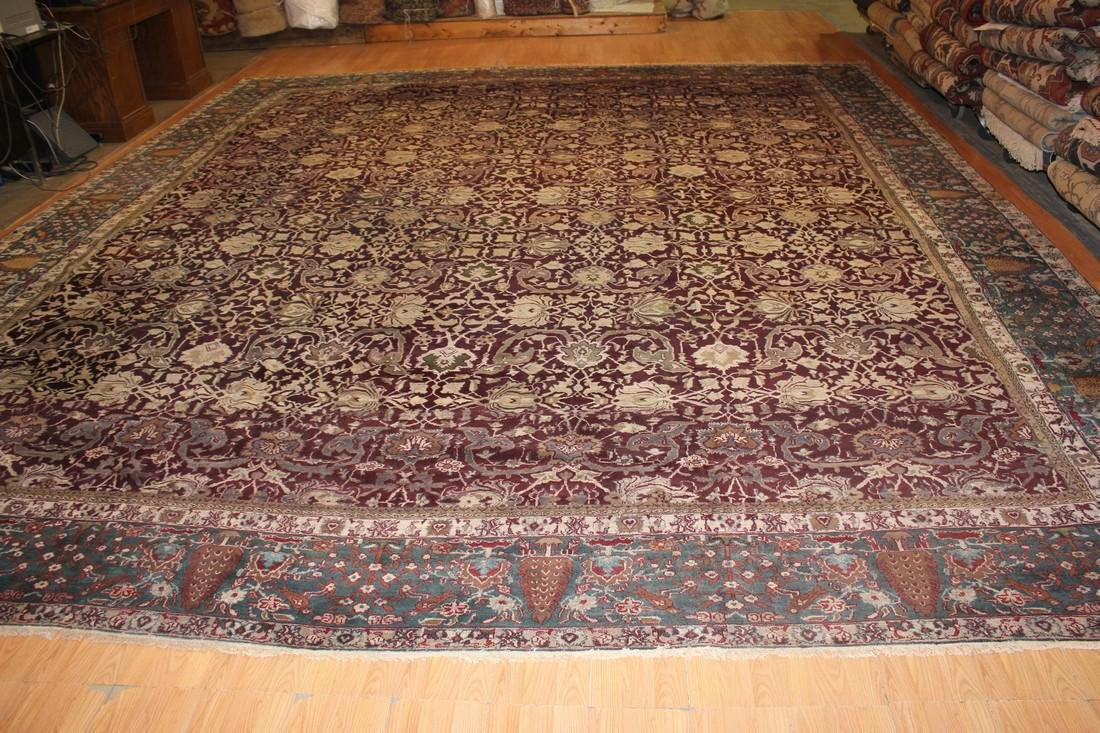 Antique Indo Agra Rug 14.7x16.10